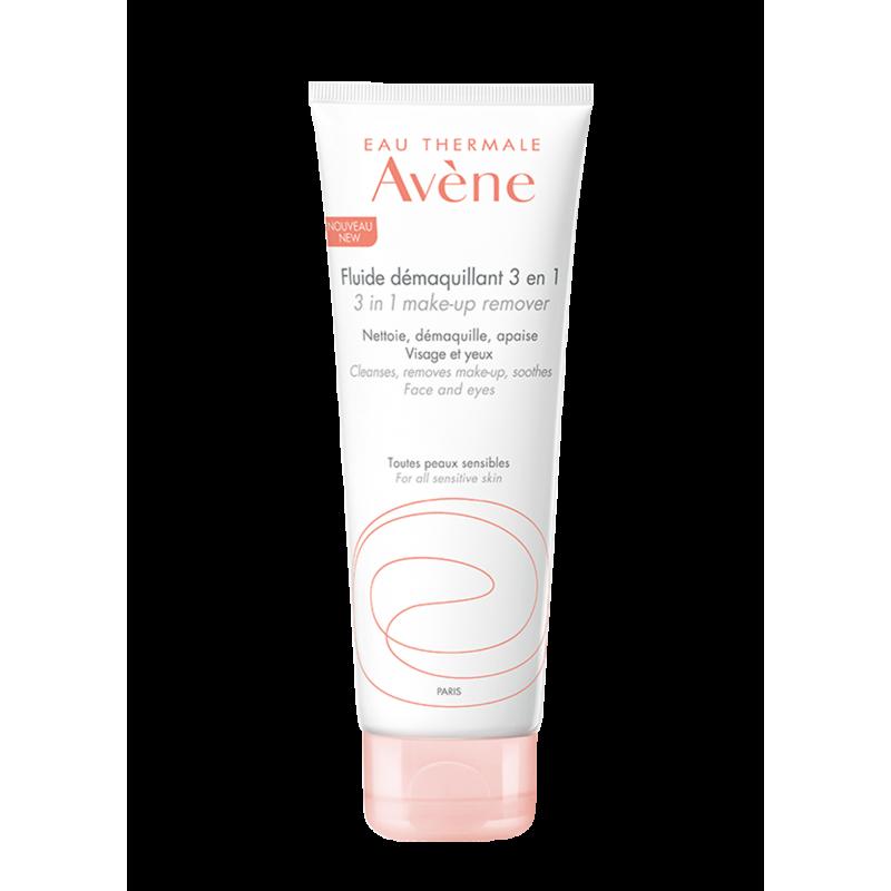 Флюид 3 в 1 для снятия макияжа Soins Essentiels (Основной уход), Avène (Авен), 200 мл