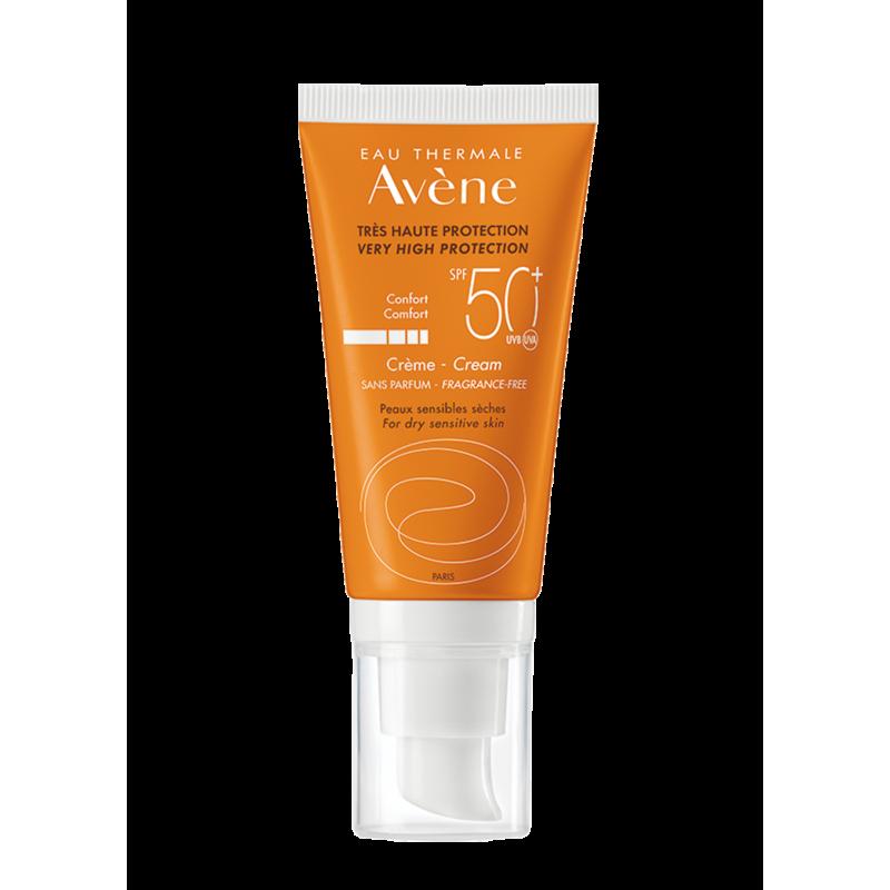 Солнцезащитный крем для сухой кожи SPF50+, Avène (Авен), 50 мл